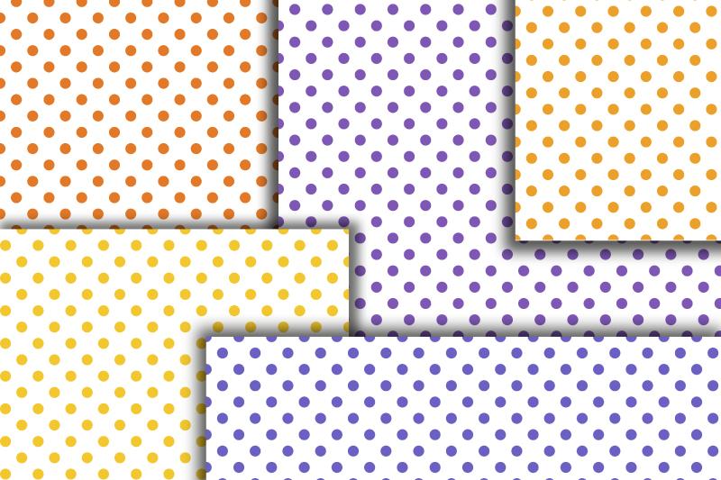Pastel Polka dot digital paper. Dotted digital background example image 2