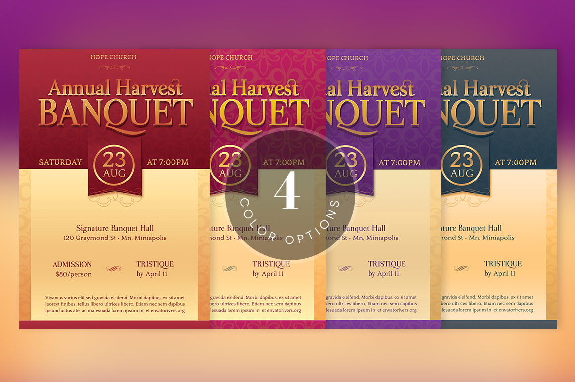 Harvest Banquet Flyer Template example image 4
