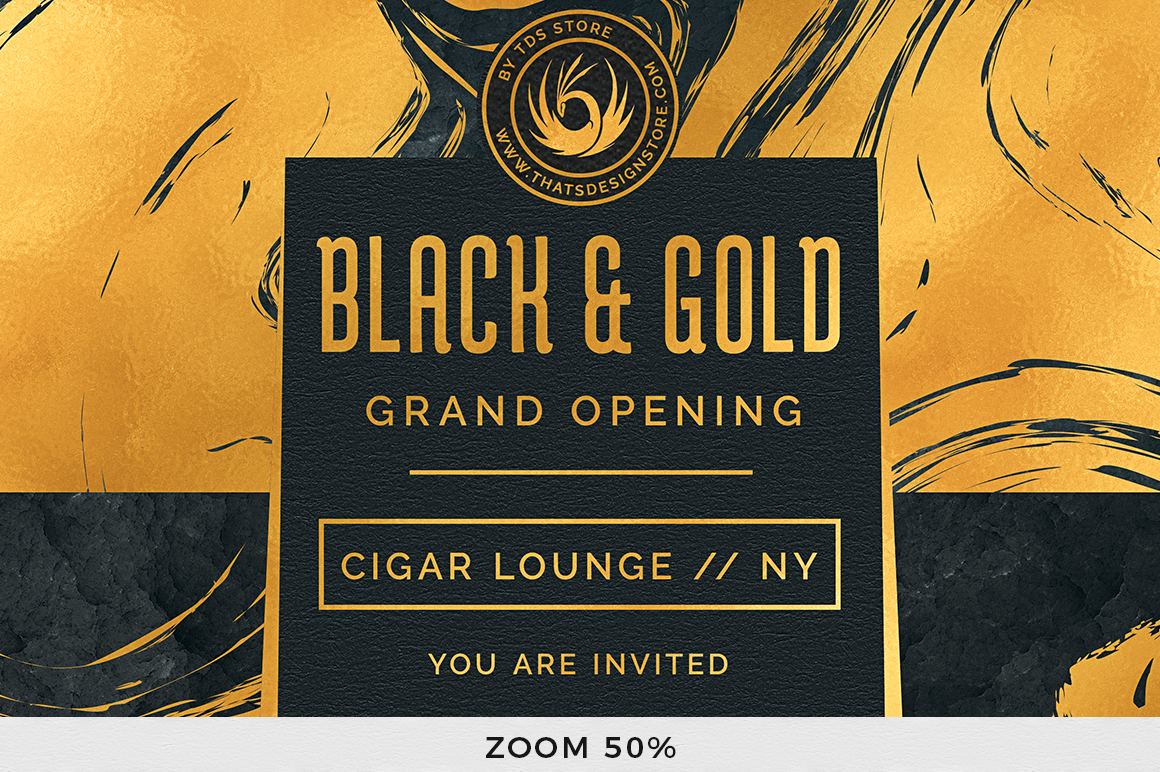 Black and Gold Flyer Template V12 example image 7