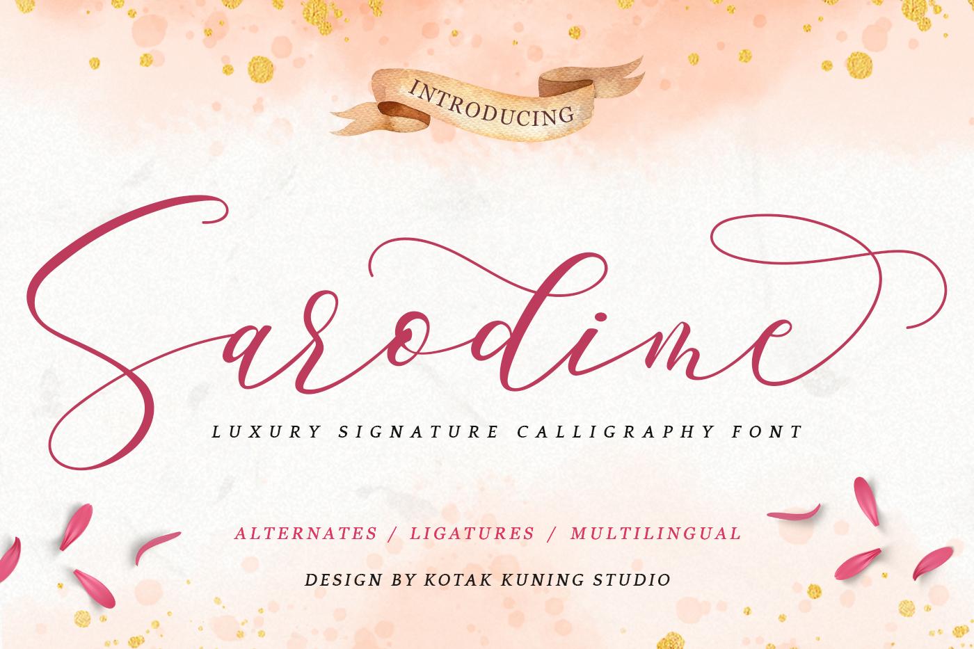 Sarodime - Romantic Calligraphy Font example image 1