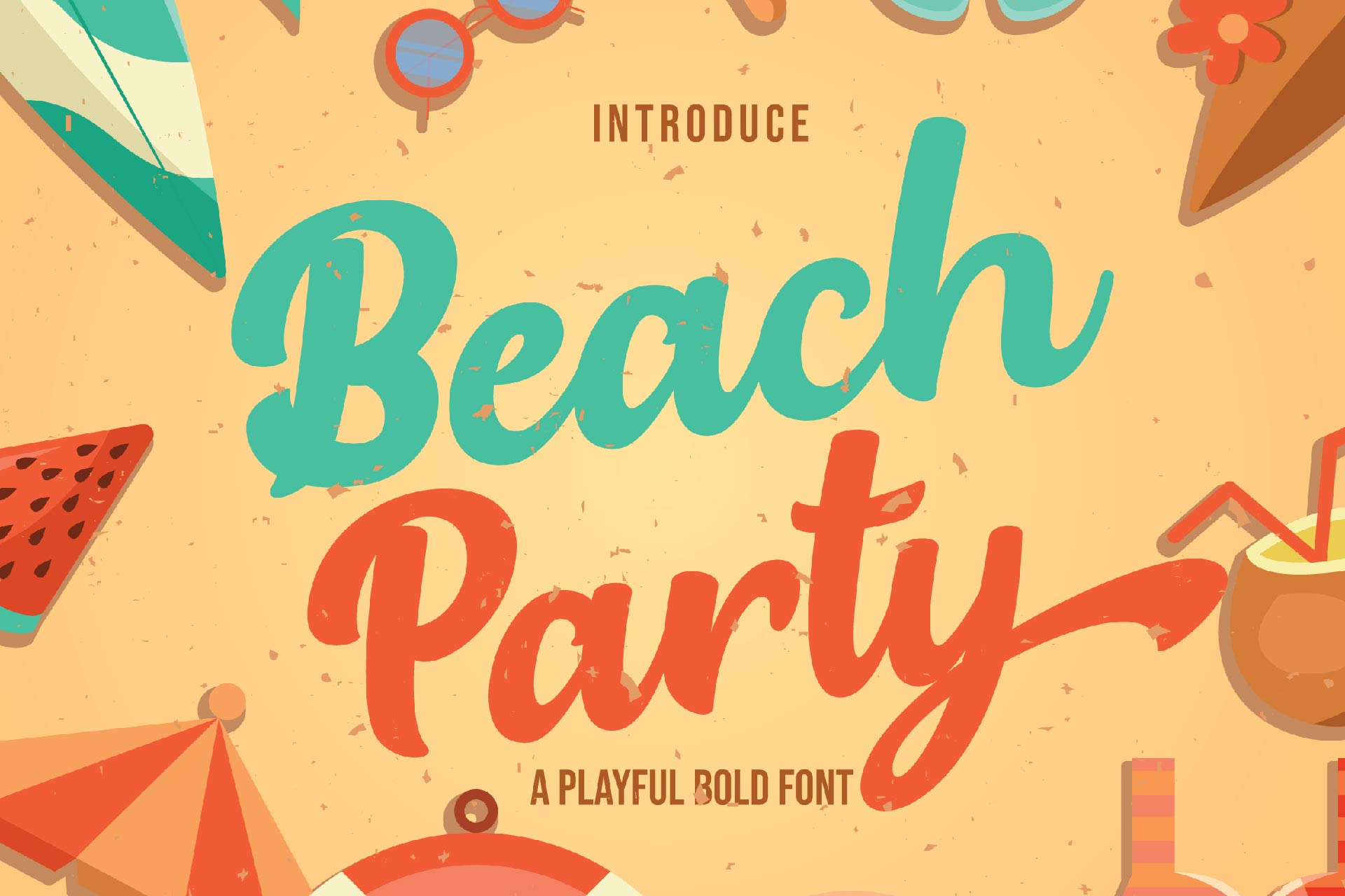 Beach Party - Playful Bold Font example image 1