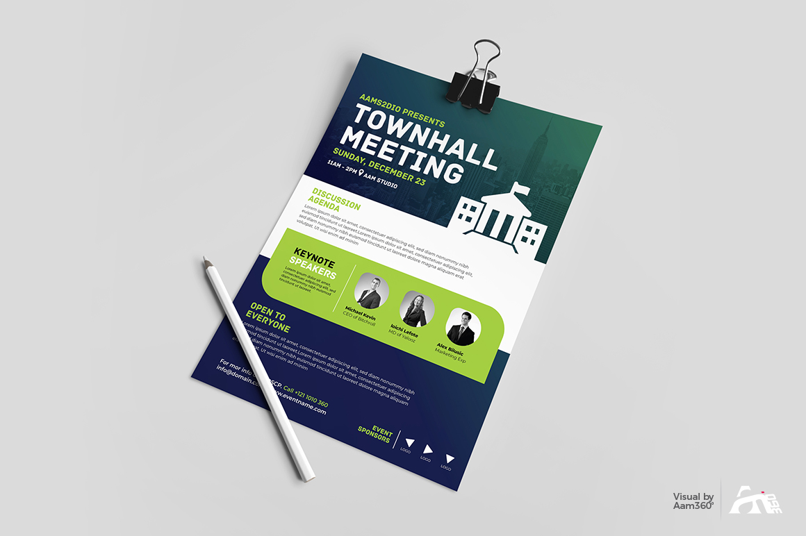 Townhall Event Flyer Template example image 3
