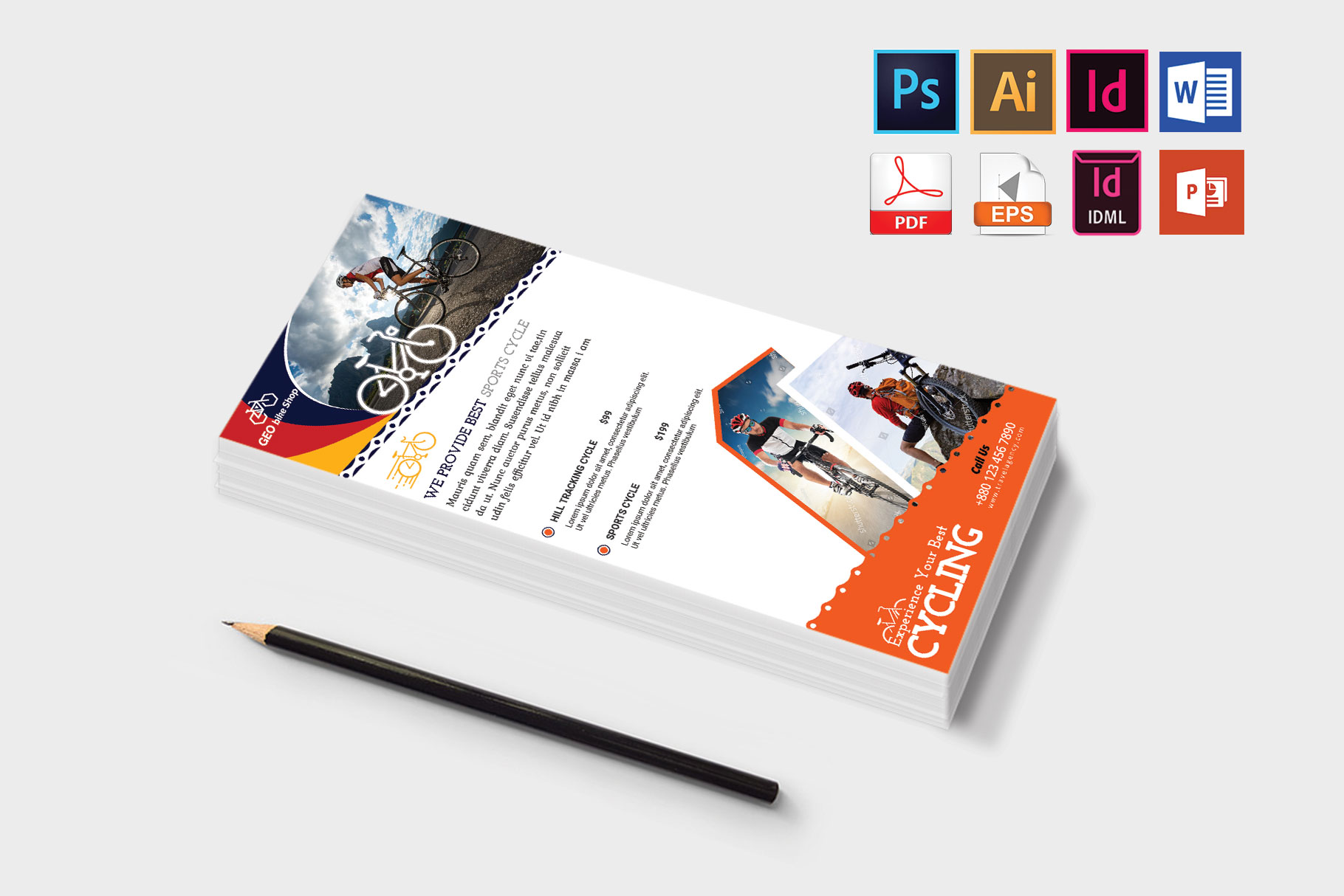 Rack Card | Cycle Shop DL Flyer Vol-02 example image 3