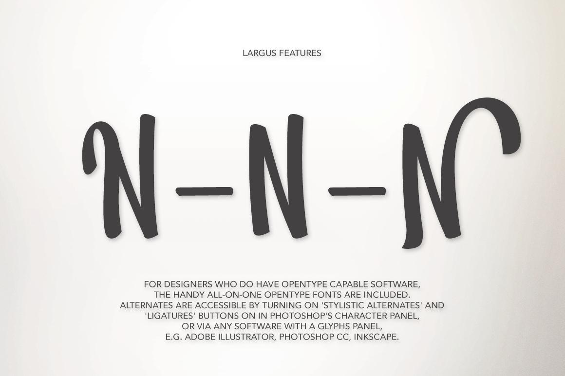 Largus Typeface example image 6