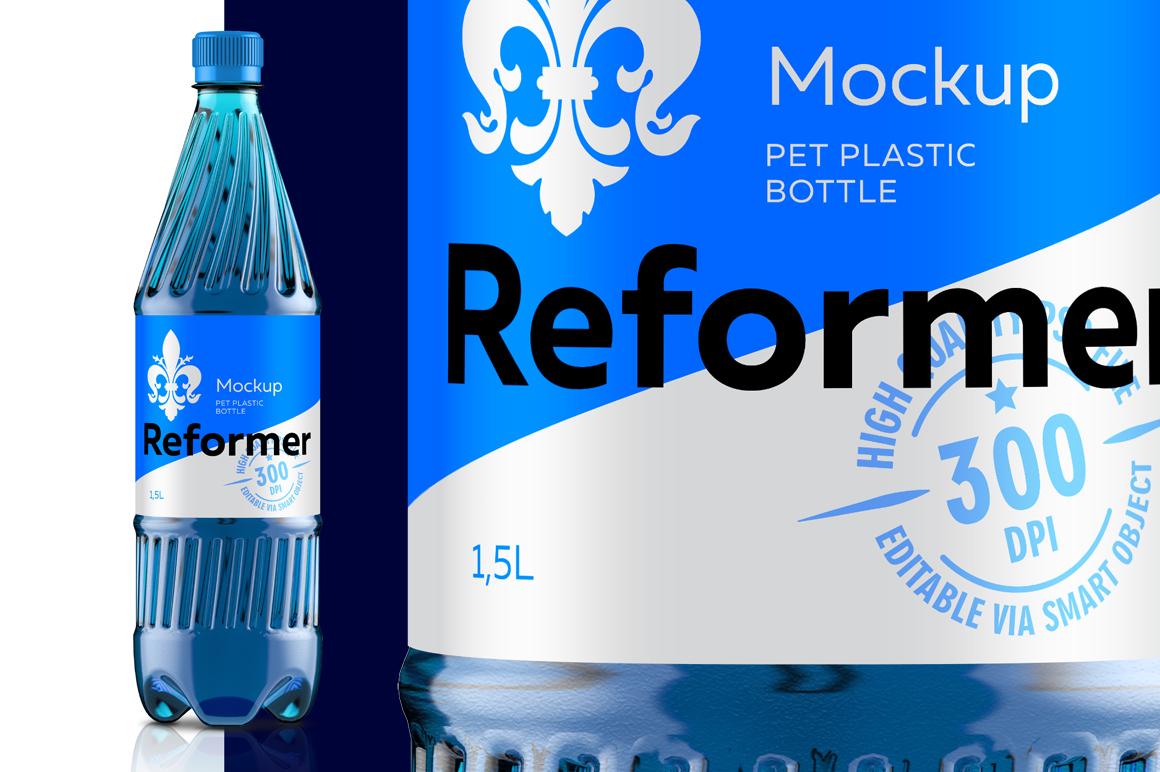 Mockup Package PET PLASTIC BOTTLE 1,5L example image 2