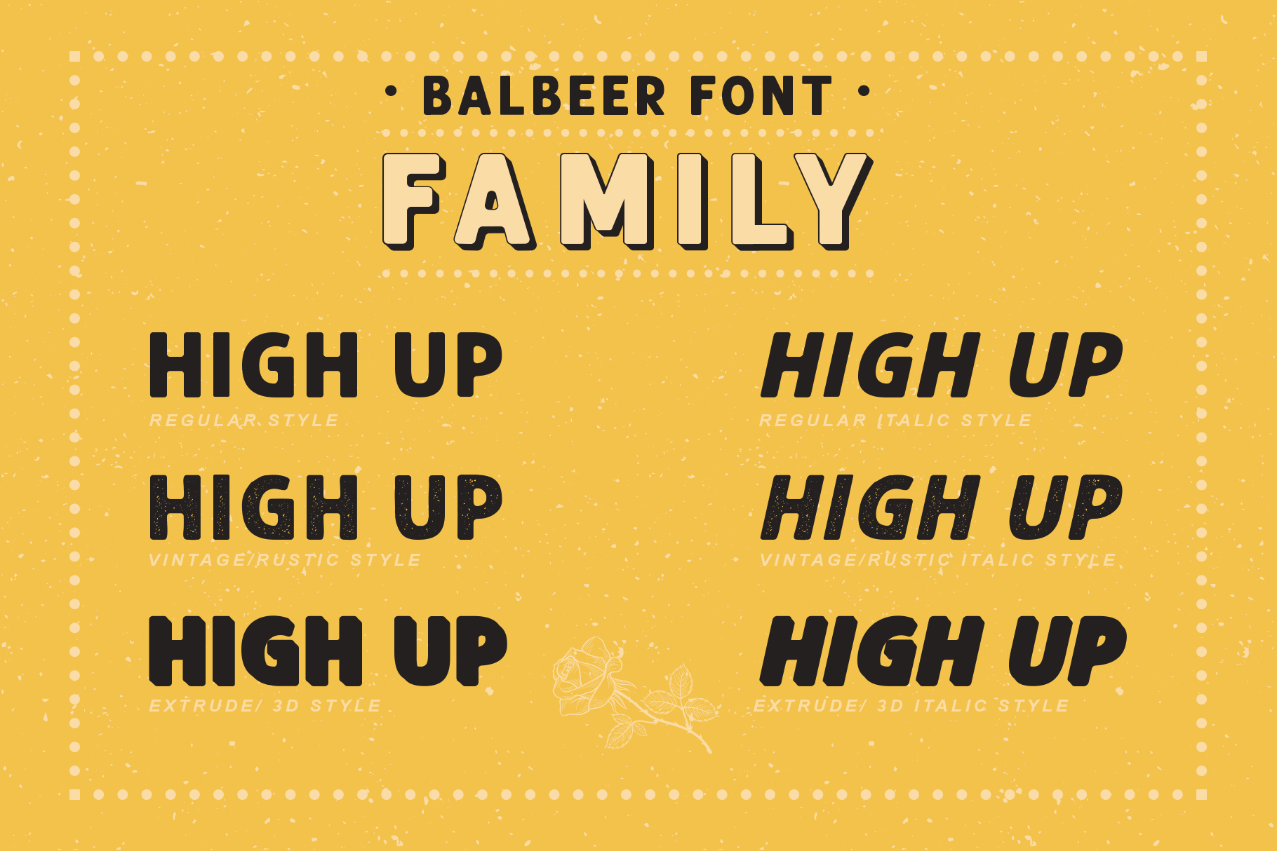 BALBEER FONT FAMILY BONUS - discount till end december example image 6