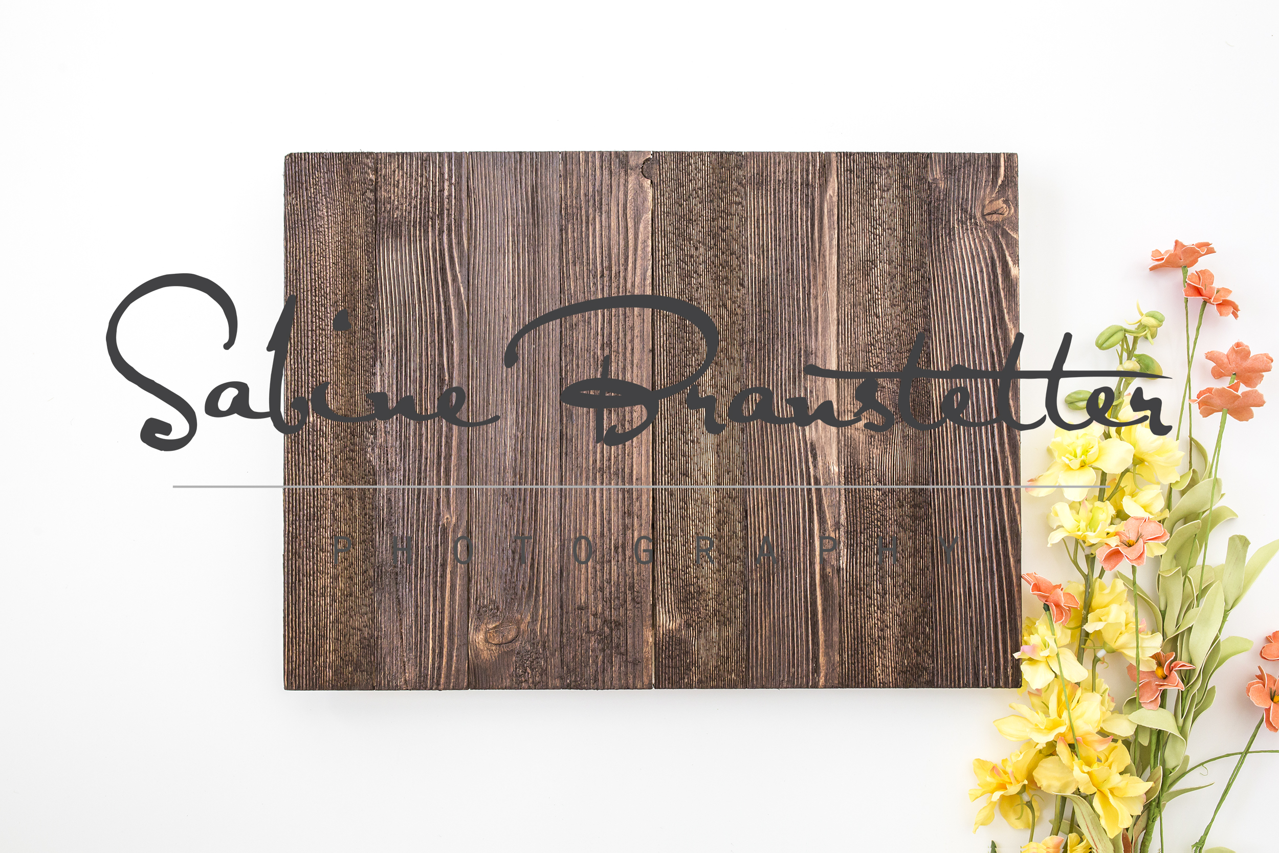 Styled Stock Photography Rustic Horizontal Wood Sing Mockup example image 1