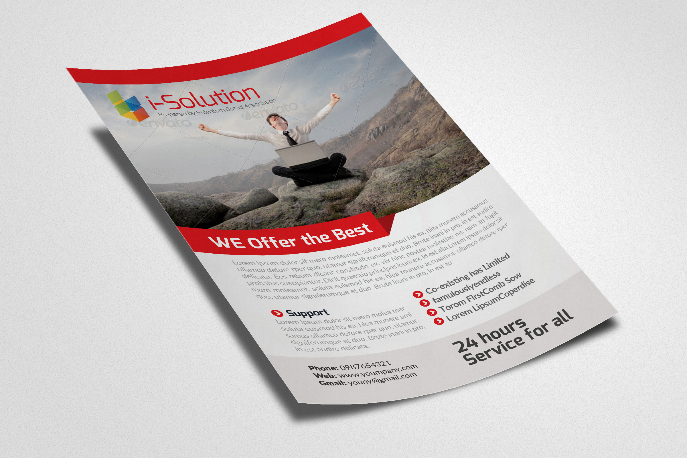 E Marketing Business Flyers example image 3
