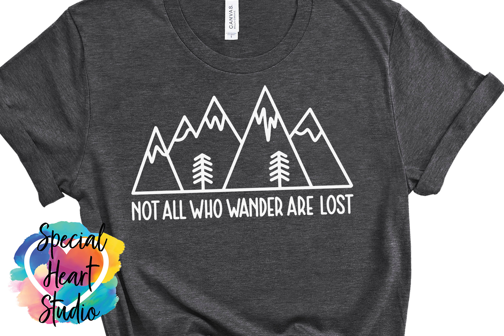 Not all who wander are lost - A hand lettered travel SVG example image 1