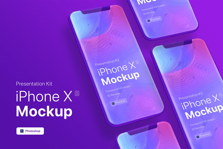 Presentation Kit - iPhone showcase Mockup_v9 example image 2