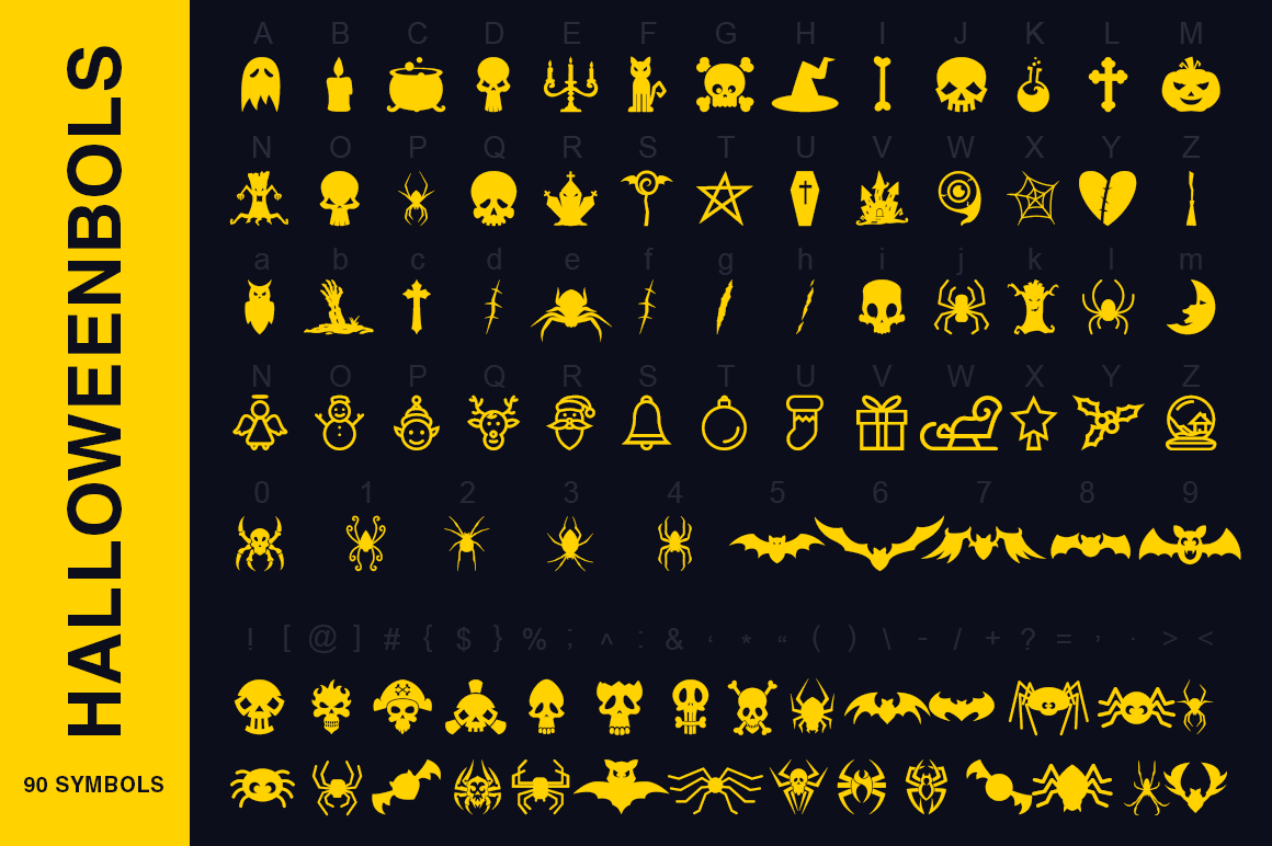 Symbols Font Collection - 450 Elements example image 3