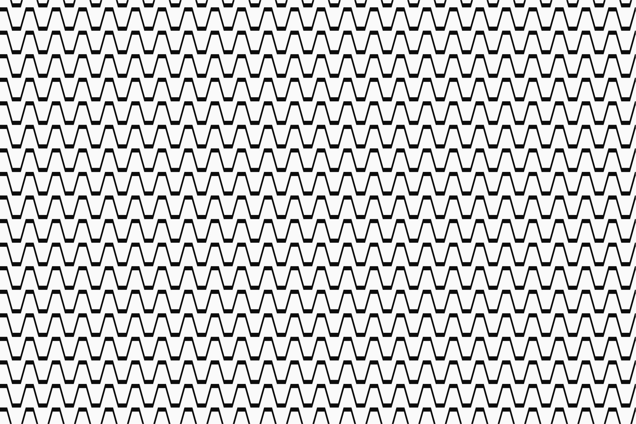 Wave&Zigzag seamless patterns. B&W. example image 9