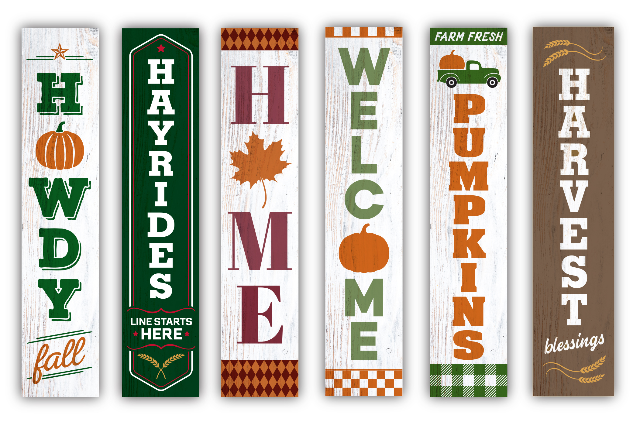 Fall / Autumn porch sign bundle #2 - SVG, EPS, JPG, PNG, DXF example image 2
