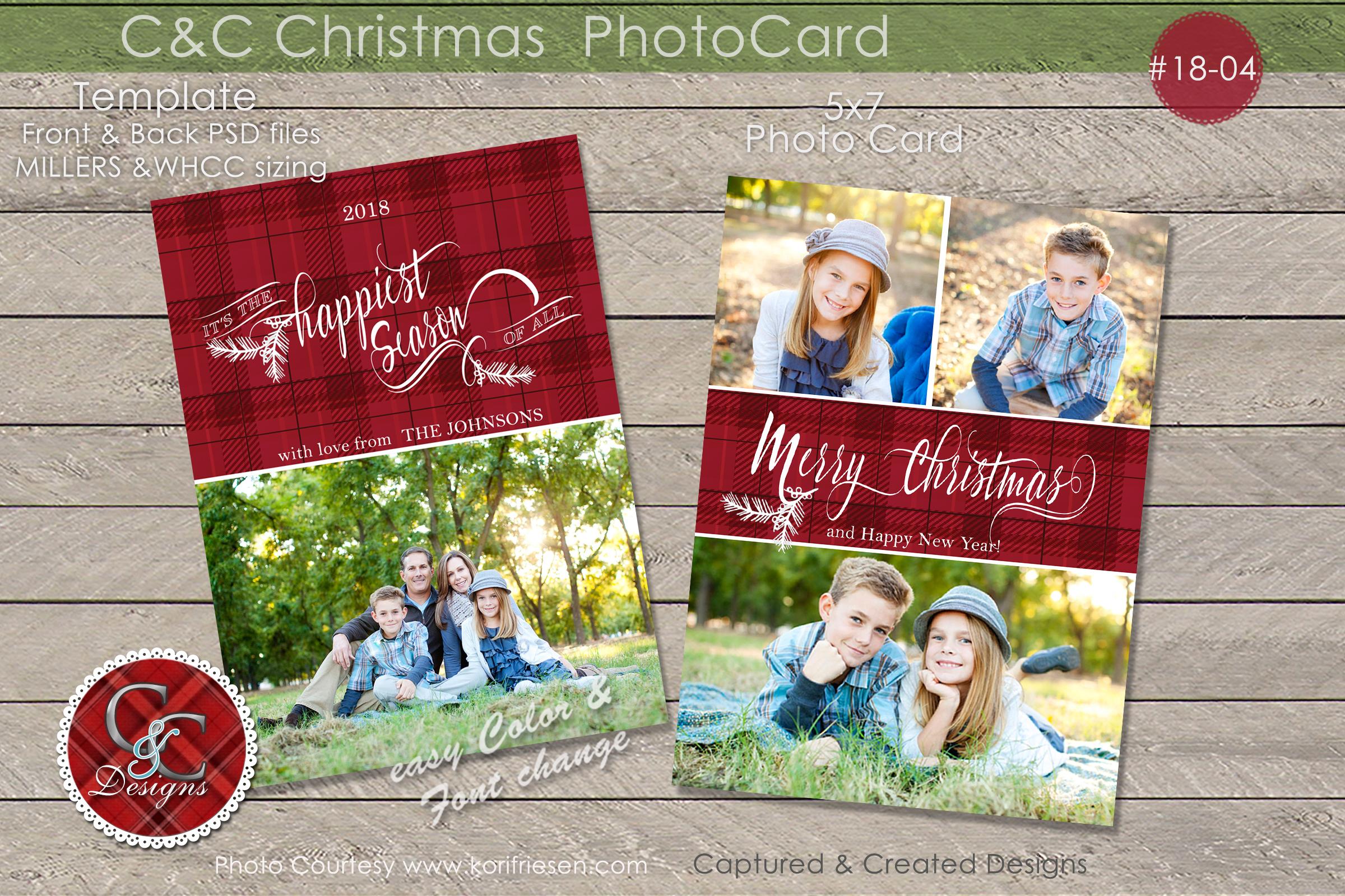 C&C Christmas Photo Card 18-04 example image 1