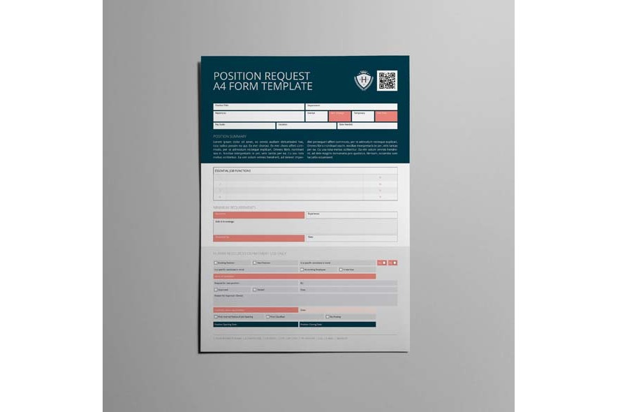 Position Request A4 Form Template example image 5
