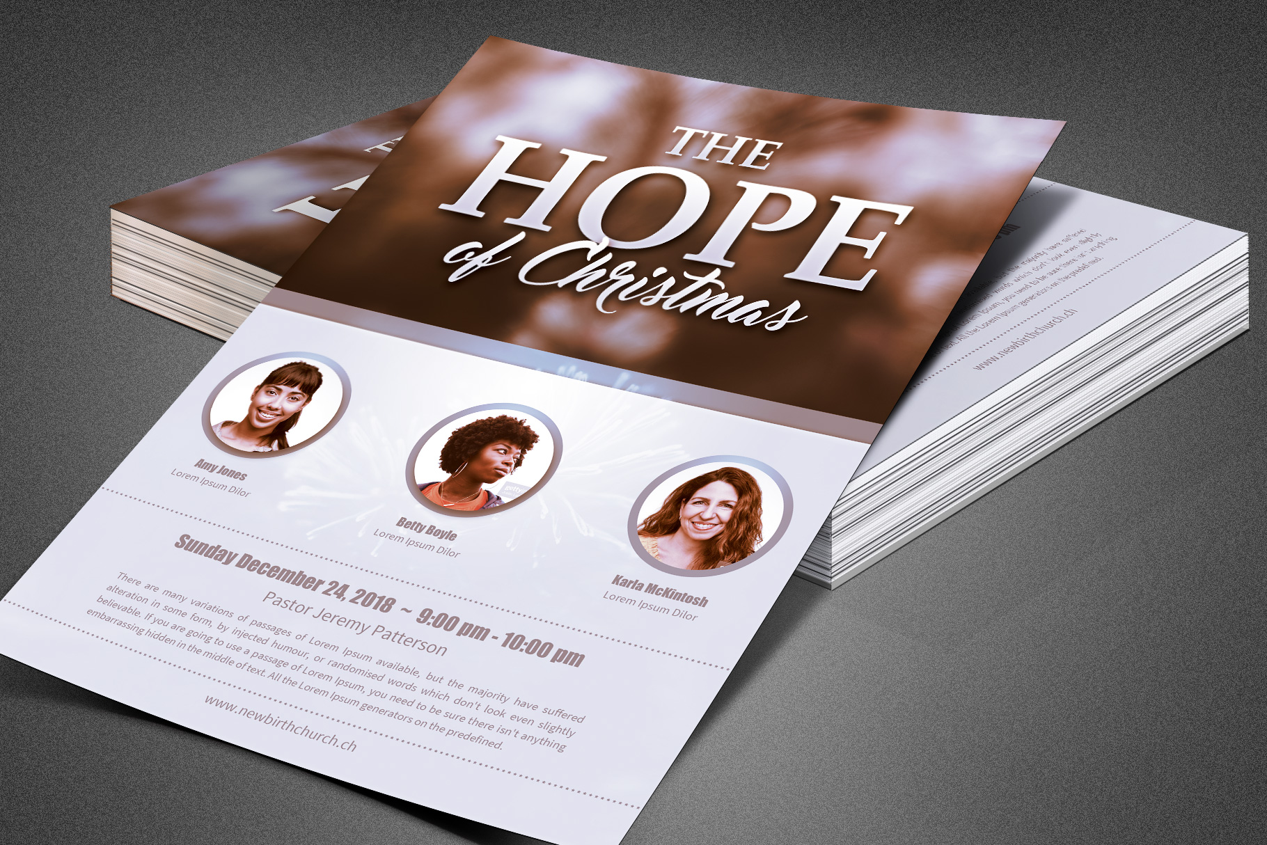 The Hope of Christmas Church Flyer example image 2