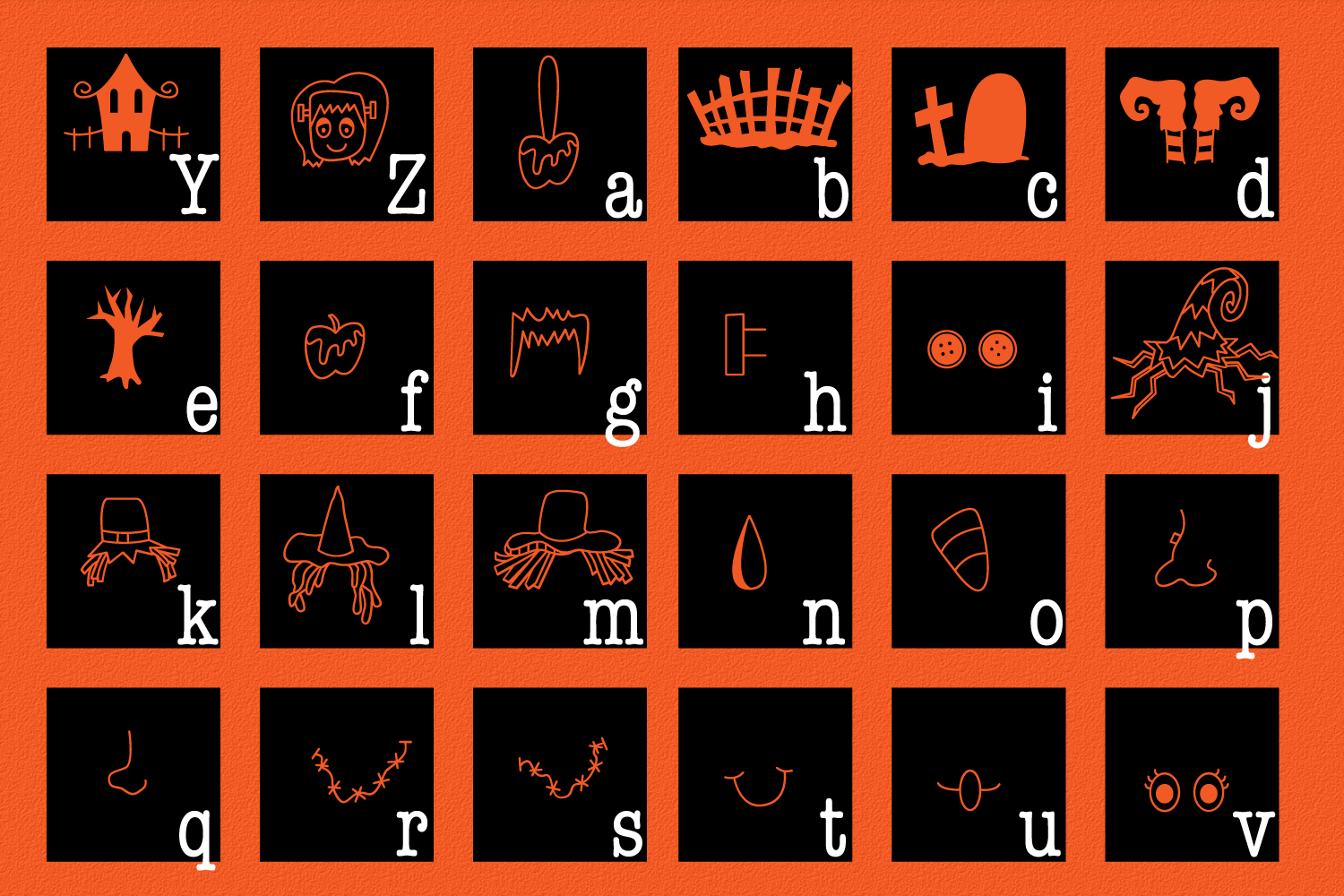 Spooky Squad - A Halloween Dingbat Font example image 7