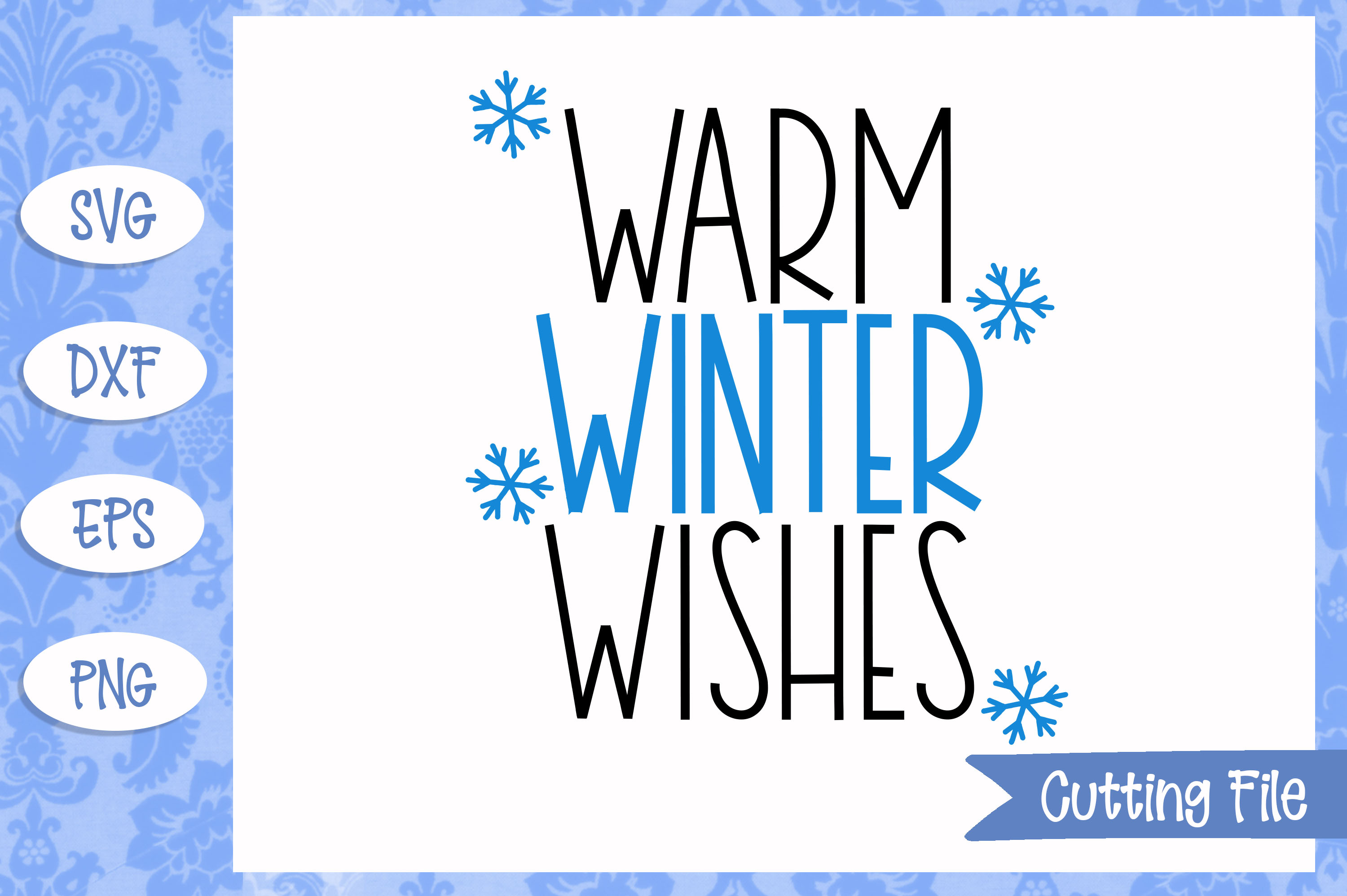 Warm winter wishes SVG File example image 1