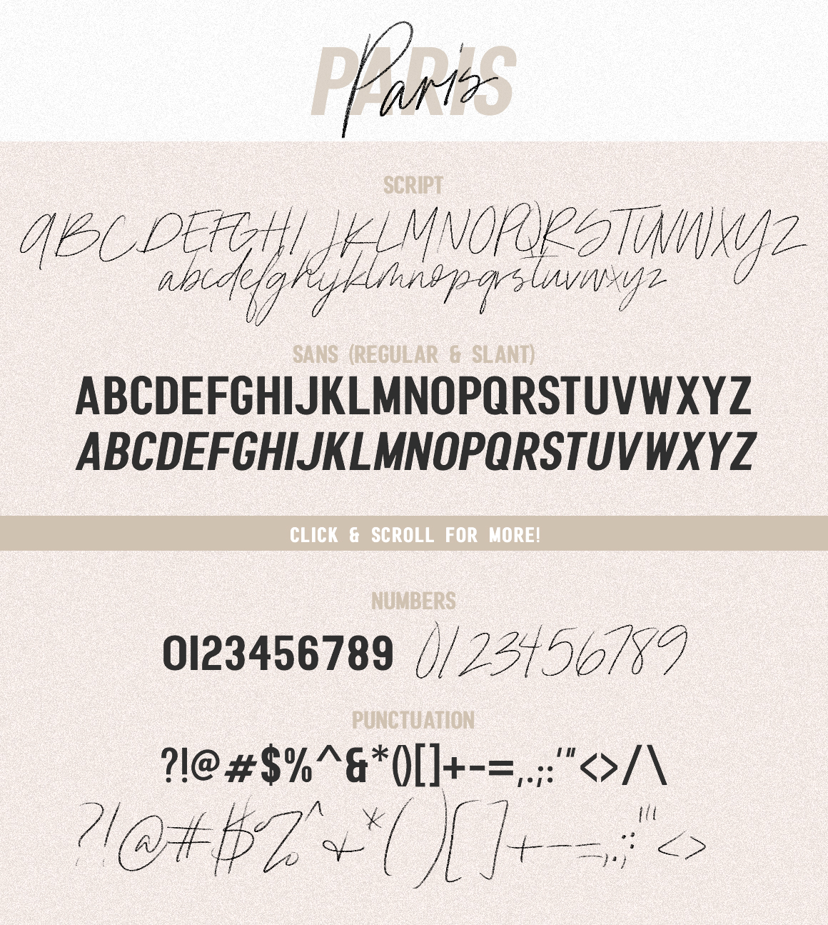 Paris | Font Duo + SVG with Extras example image 3