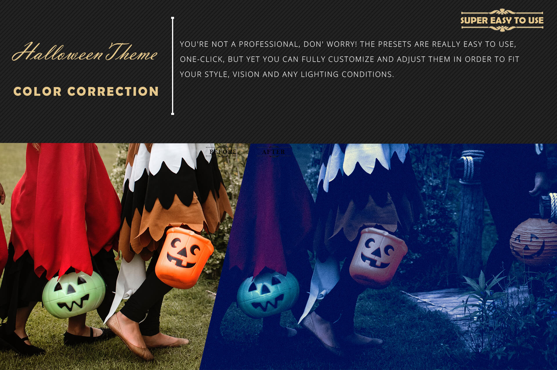 Halloween Theme Collection Color Grading Lightroom presets example image 5