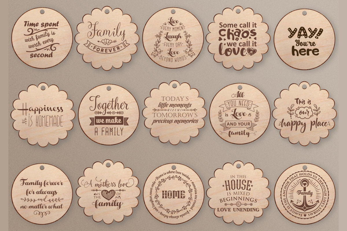 Love Family Quotes. SVG bundle example image 4