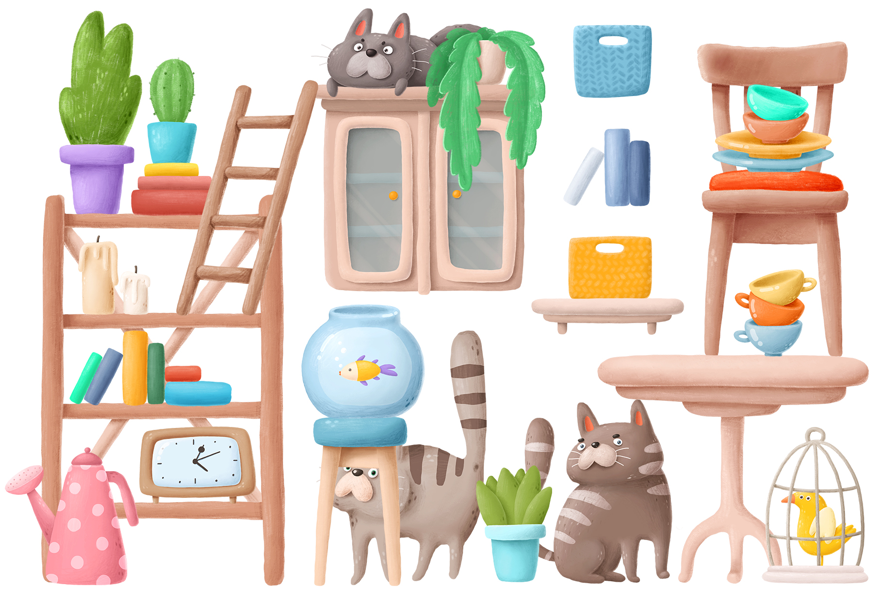 Home clipart pack 2 example image 1