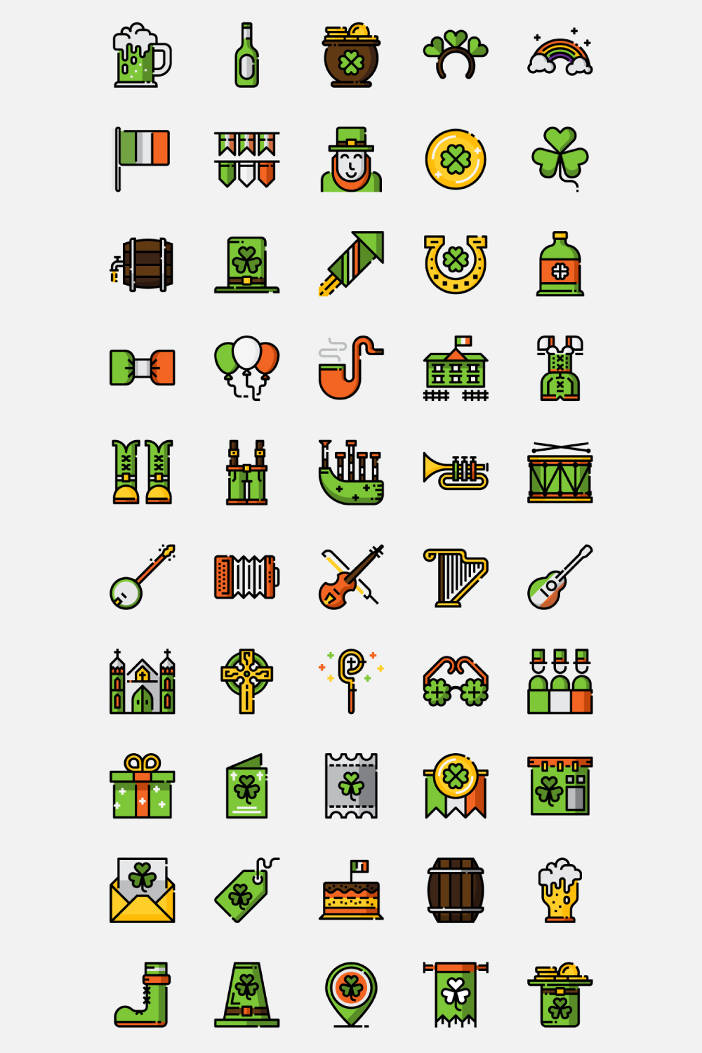 St.Patrick's Day Icons example image 3