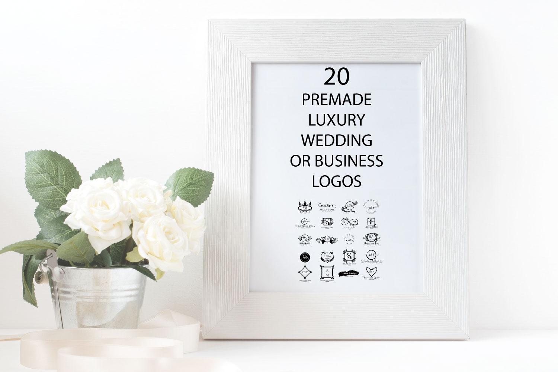 20 PREMADE FEMININE, LUXURY WEDDING OR BUSINESS LOGOS example image 3