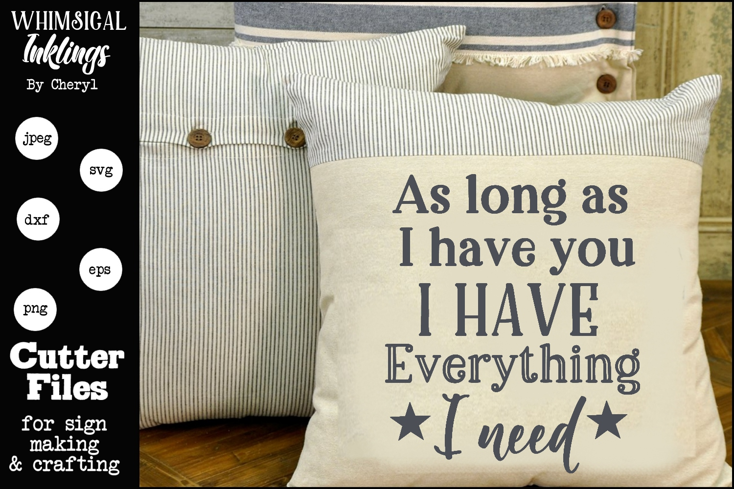 As Long As I Have You SVG example image 1