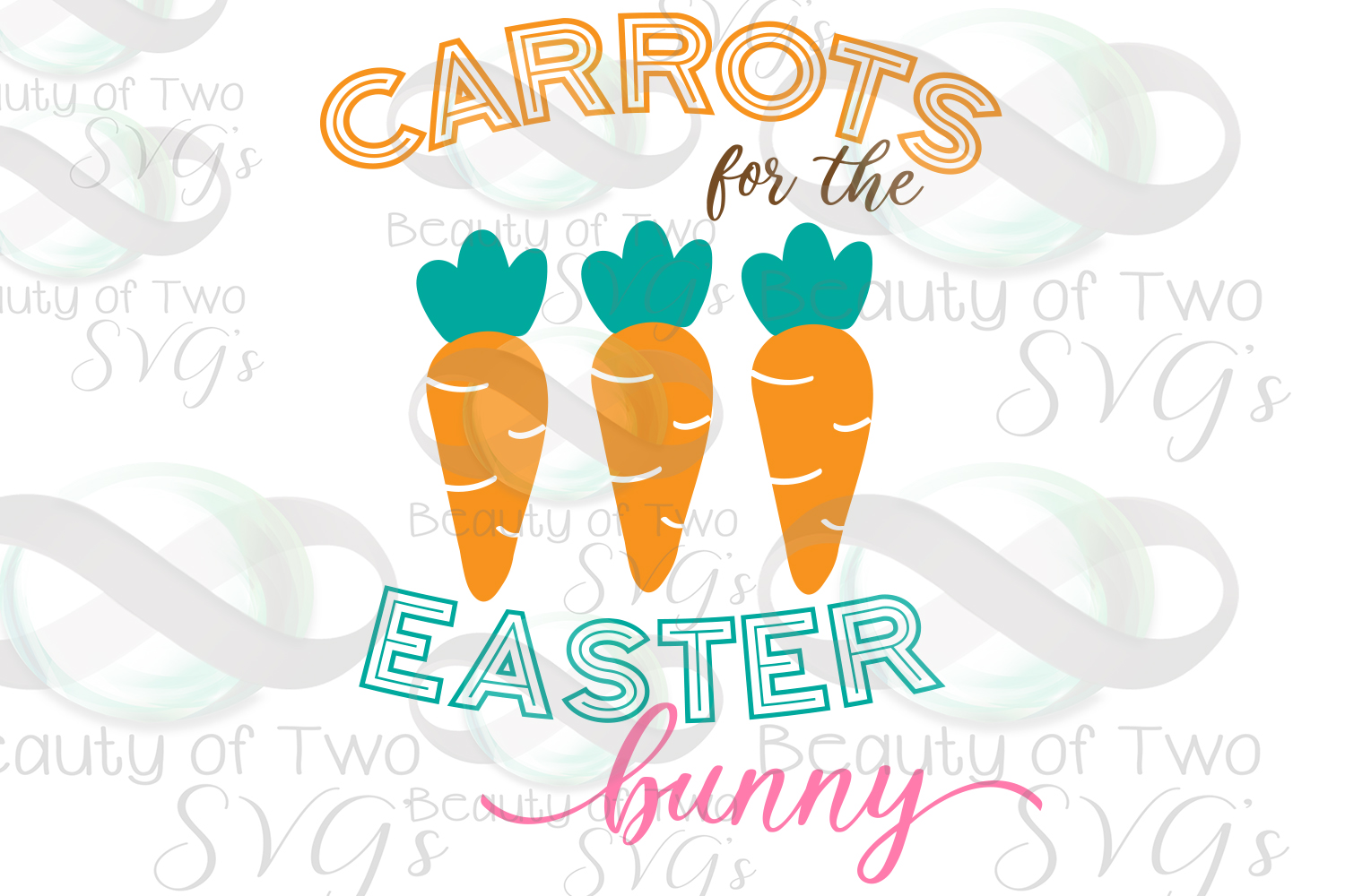 Carrots for the Easter Bunny svg & png, Farmhouse Easter svg example image 2