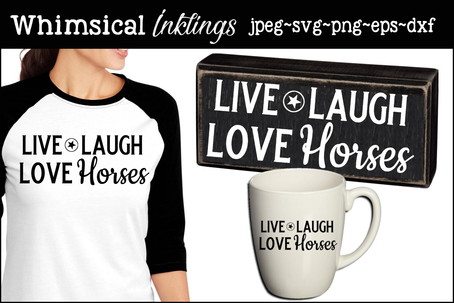Love Horses SVG example image 1