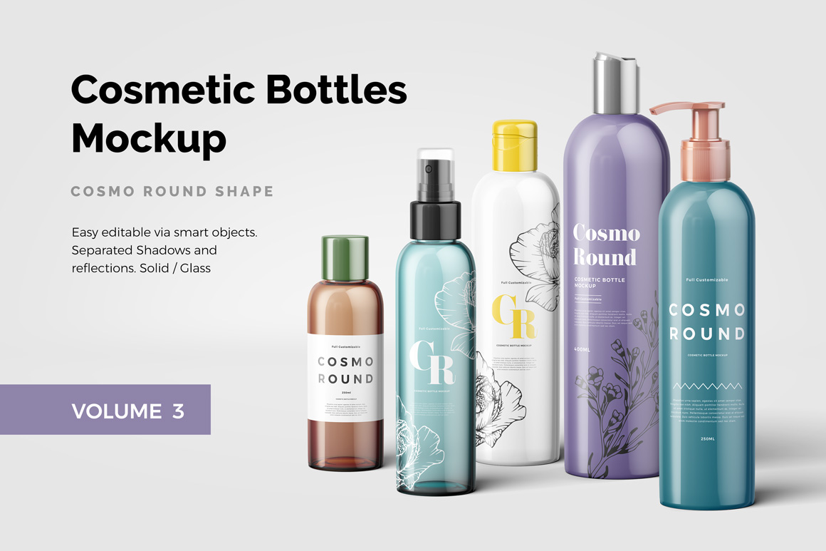 Cosmetic Bottles Mockup Vol.3 example image 1