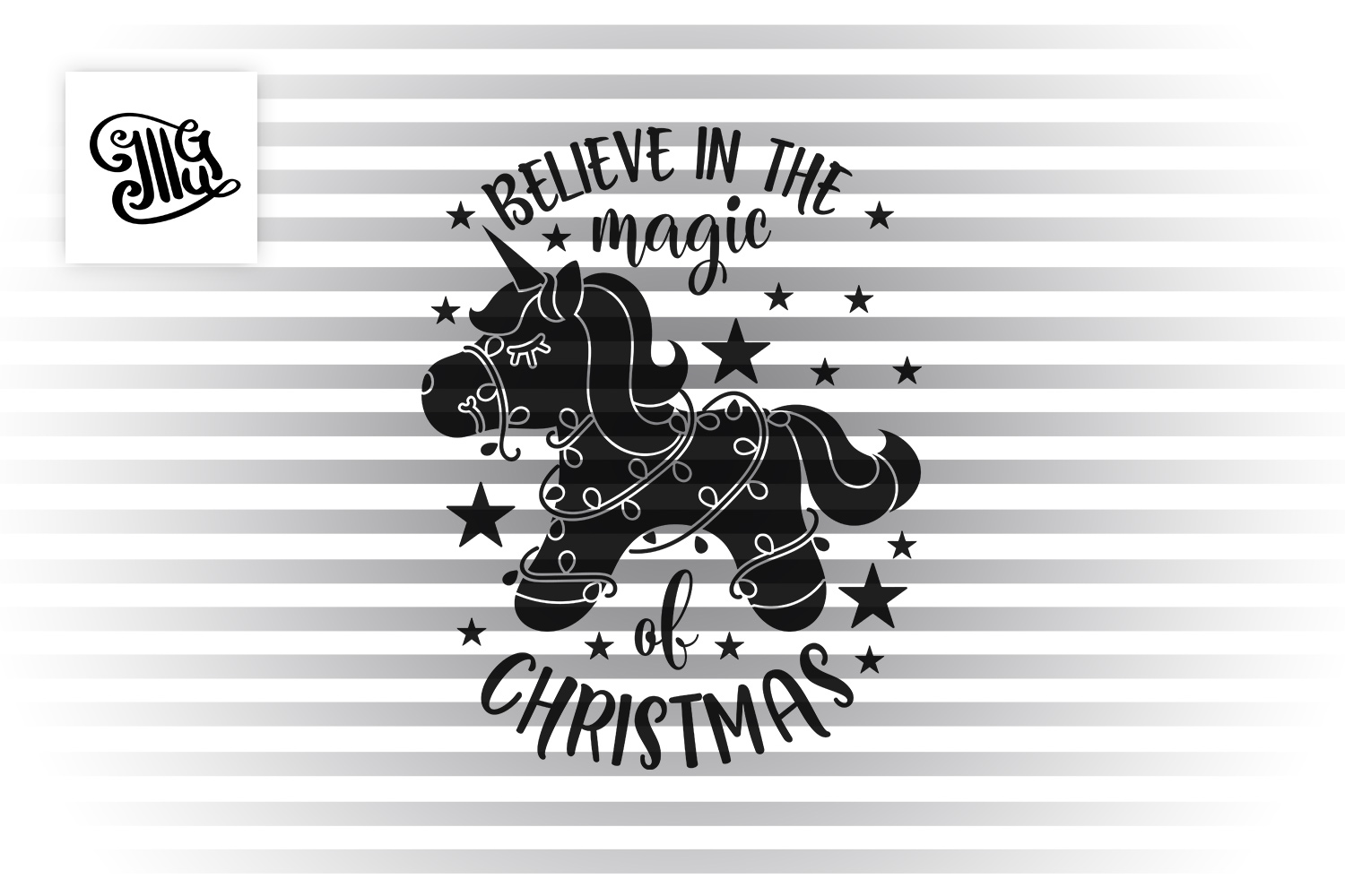 Believe in the magic of Christmas - unicorn example image 2