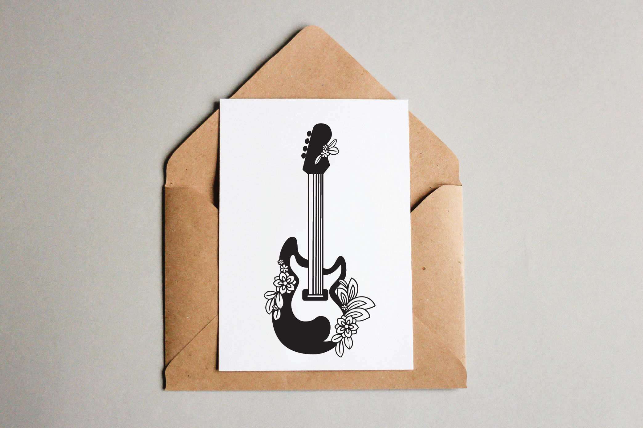 Floral Guitars SVG example image 5