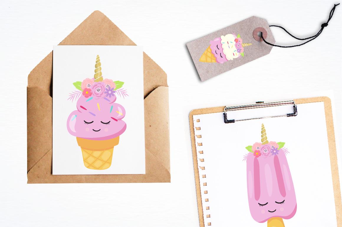 Ice Cream Unicorn graphics and illustrations example image 4
