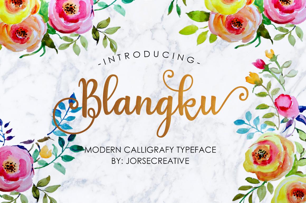 Blangku Font example image 1