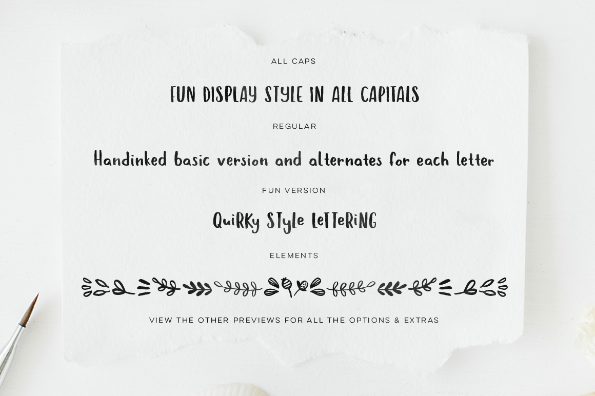 Hola Bisou - Fun, quirky inky font example image 4