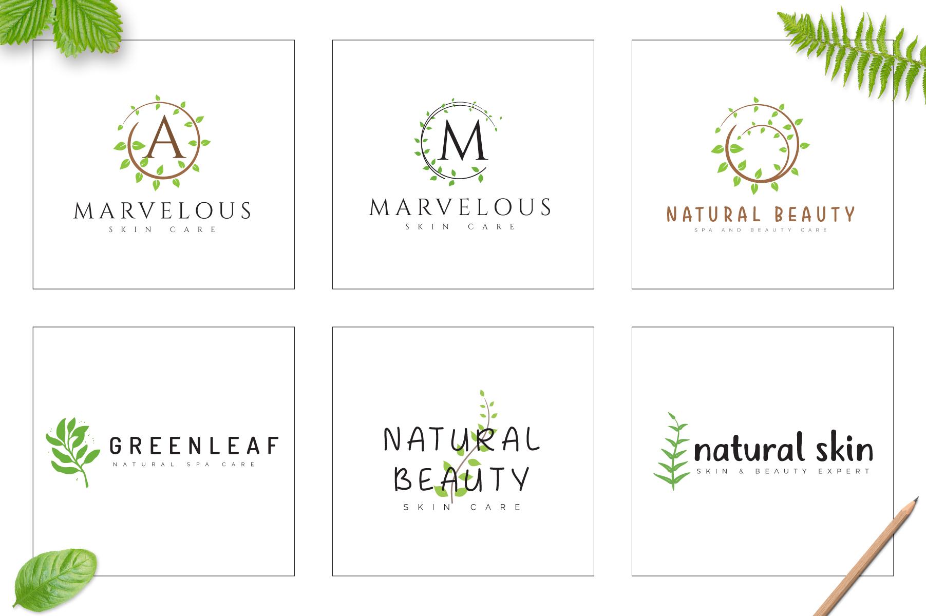 70 Elegant Floral Logo Bundle example image 8