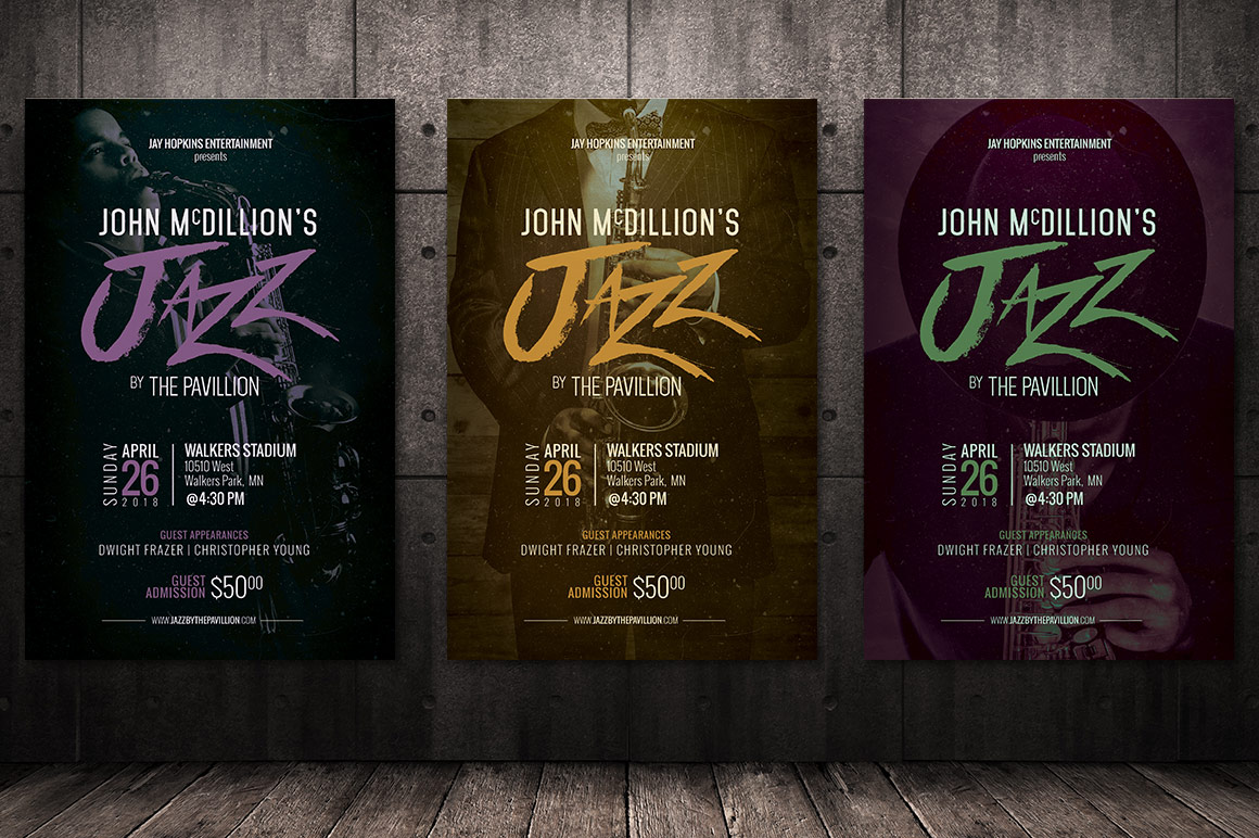 Jazz Concert Flyer Poster Template example image 9