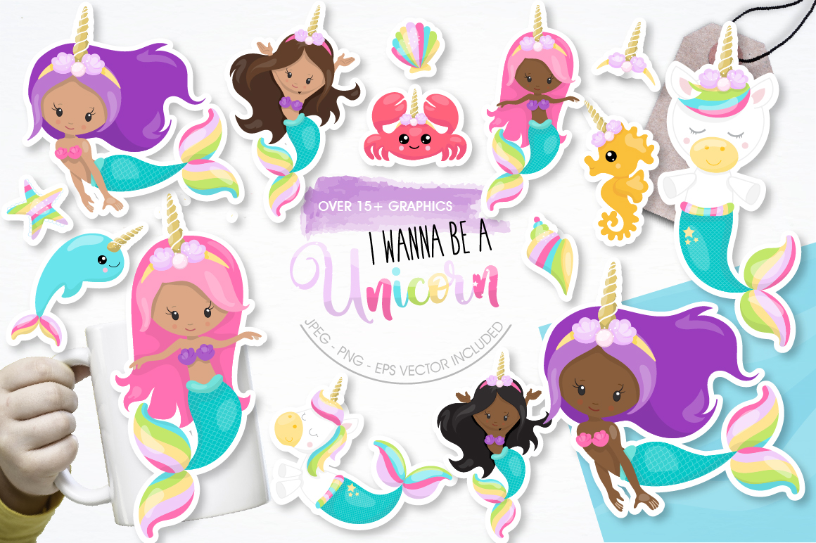 I wanna be a unicorn graphic and illustrations example image 1