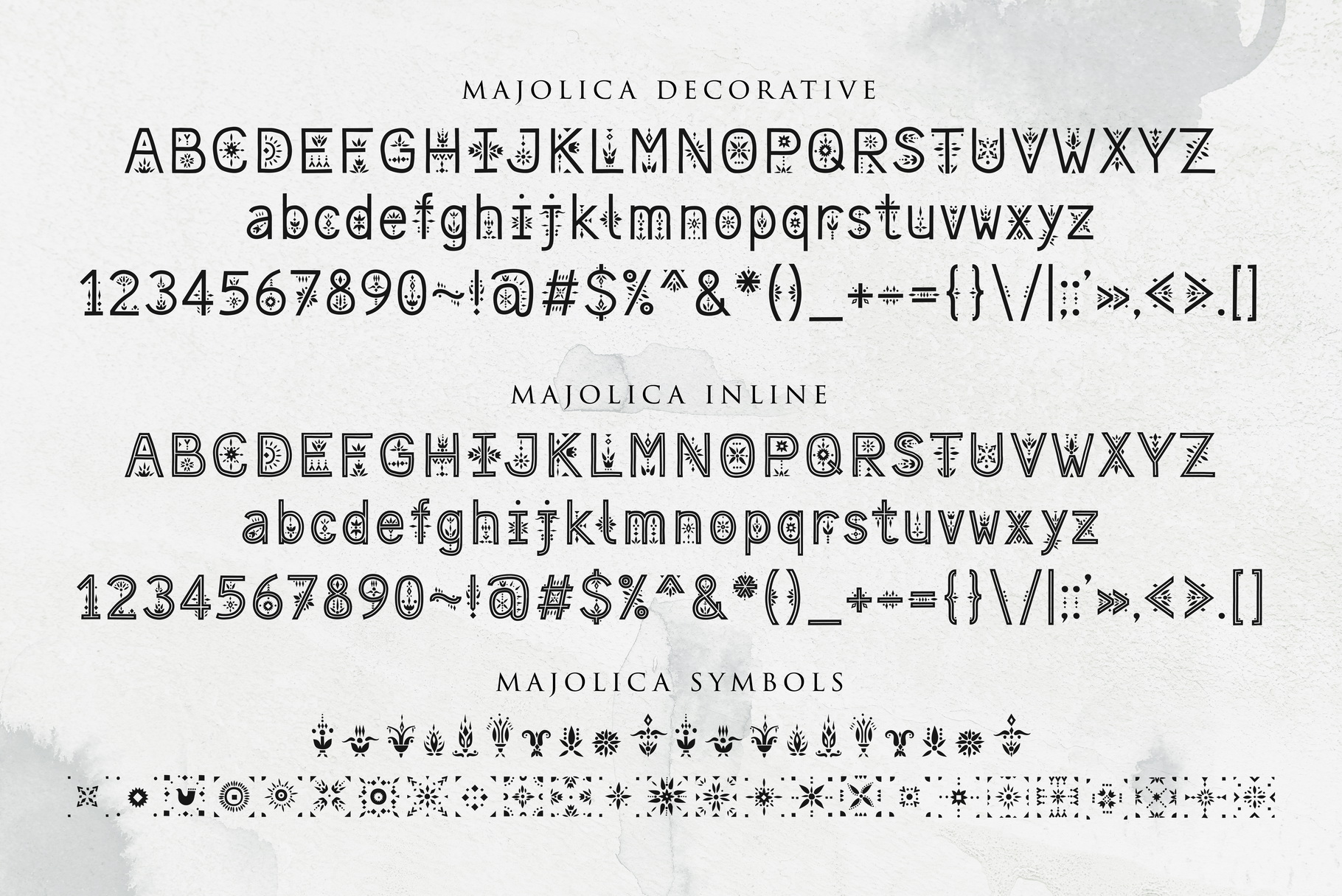 Majolica - Font Family example image 4