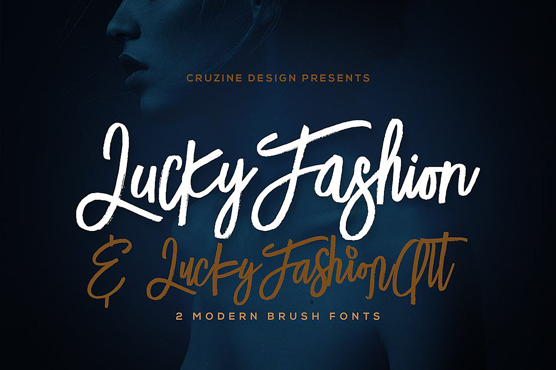 Lucky Fashion Brush Font example image 1