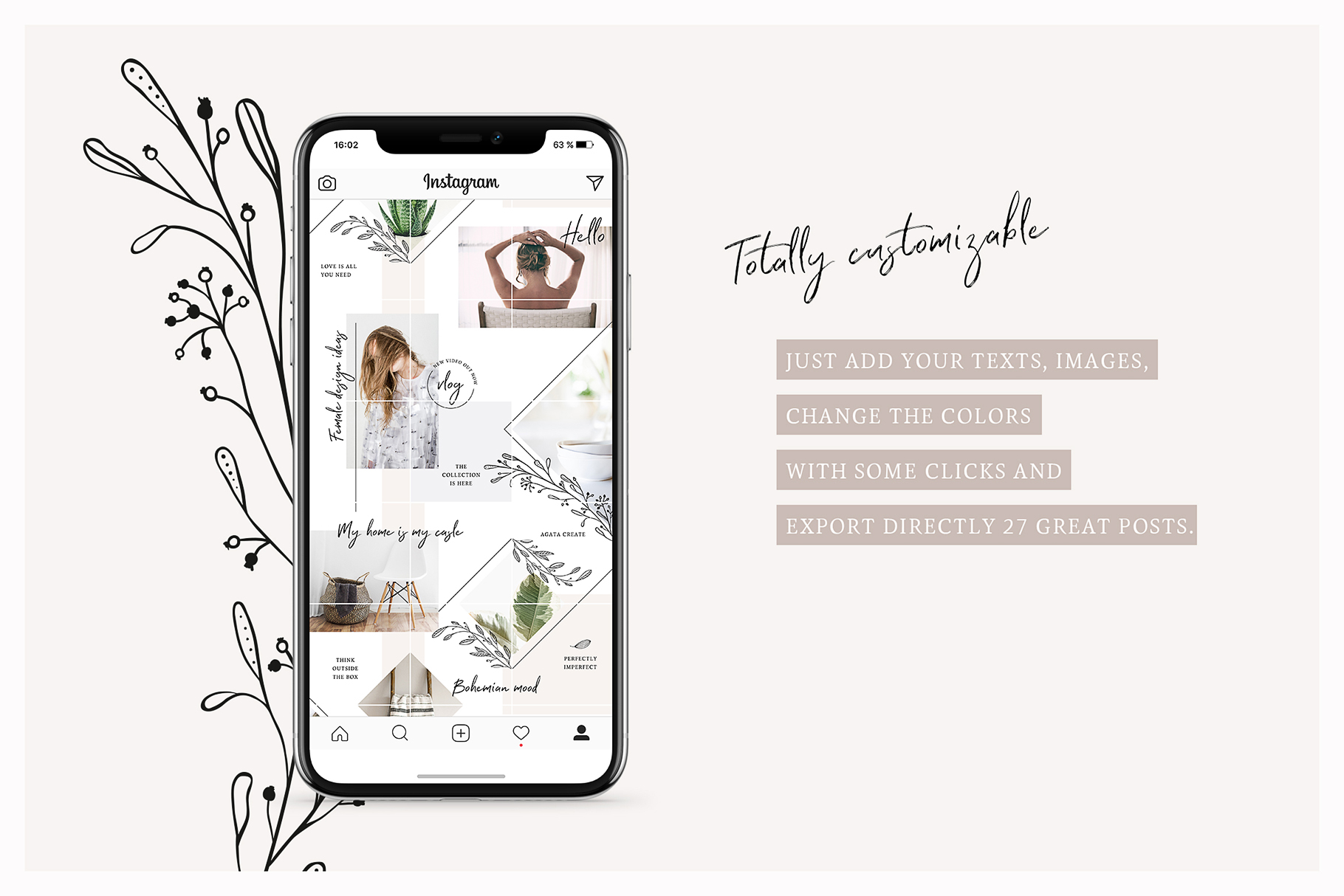 Fine Instagram Puzzle Template example image 6