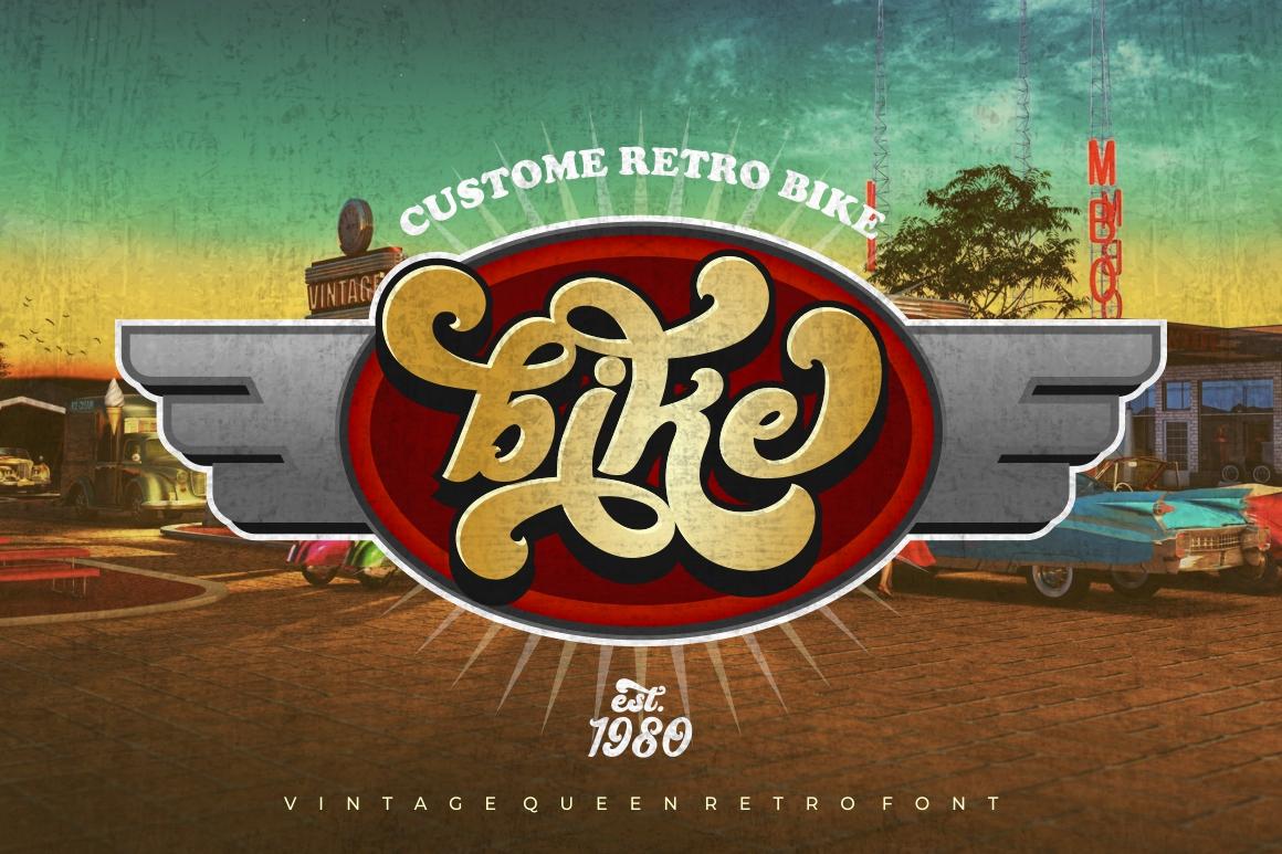 Vintage Queens - Retro Bold Script example image 9
