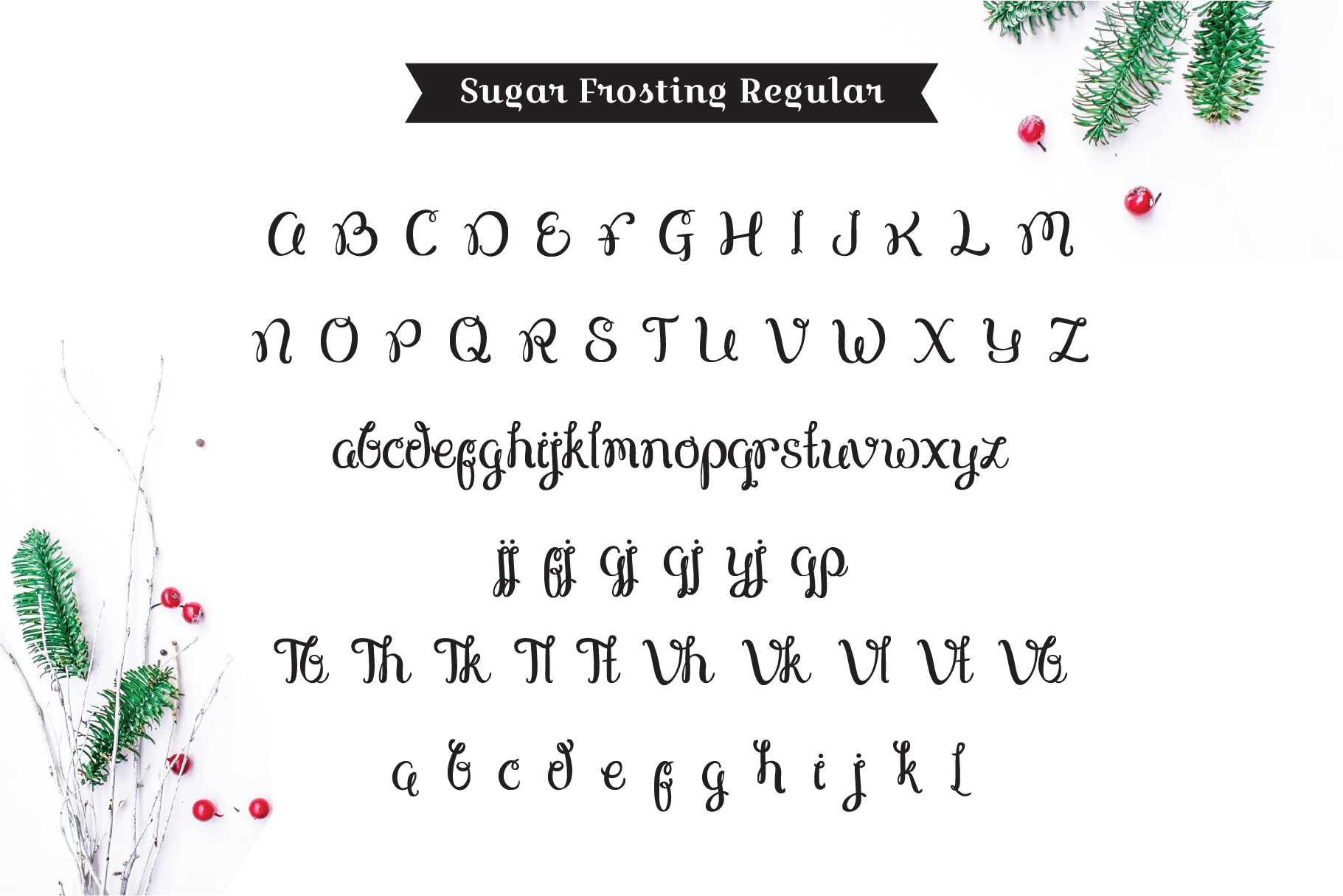 Sugar Frosting Font Trio example image 3
