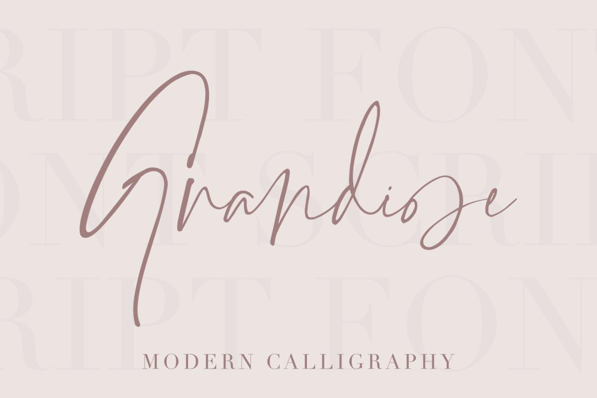 Grandiose - Stylish Signature Font example image 11