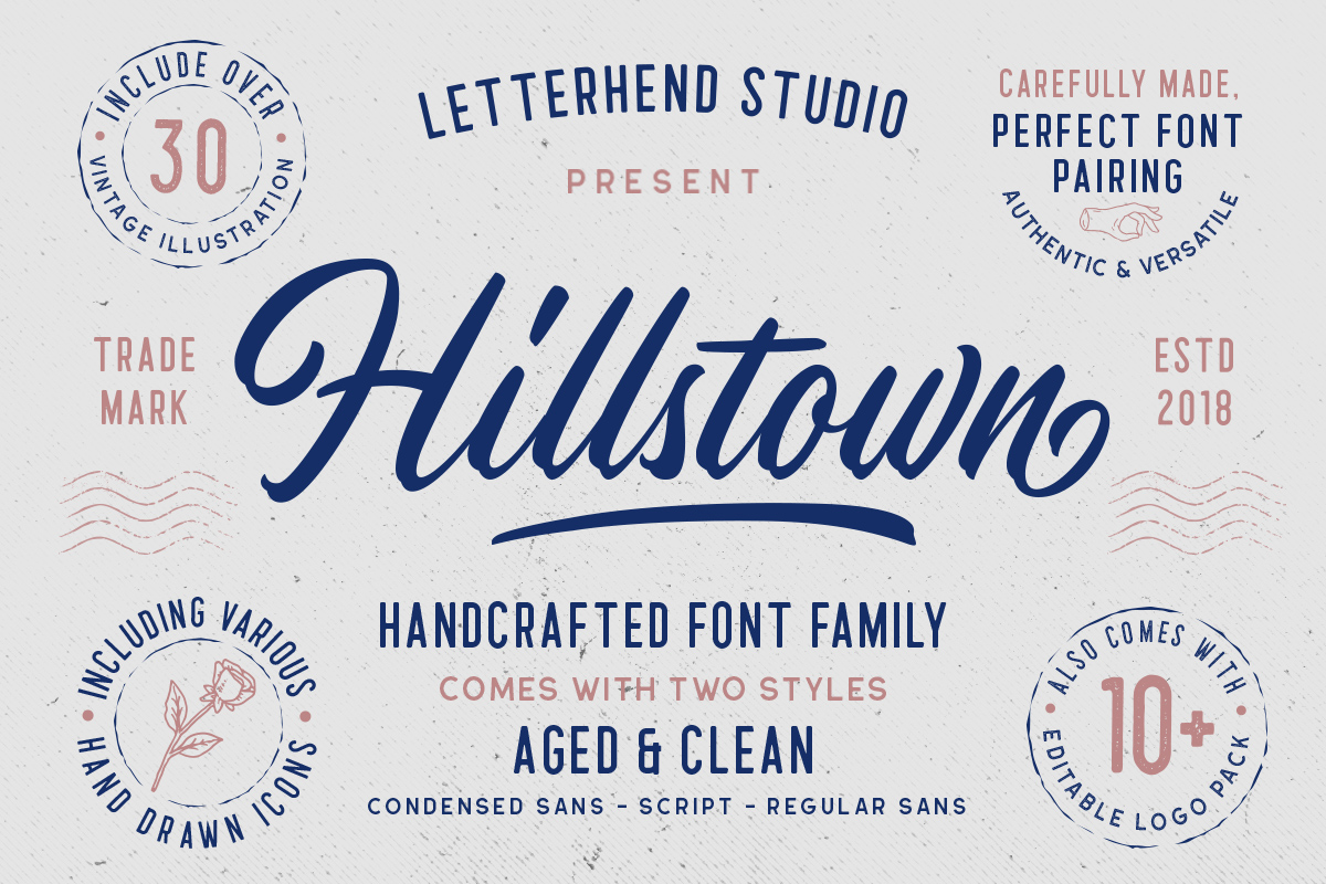 Hillstown Font Collection and EXTRA example image 12