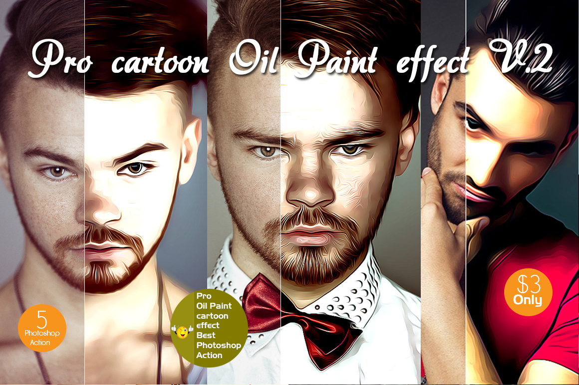 Professional cartoon Oil Paint effect v.2 example image 1