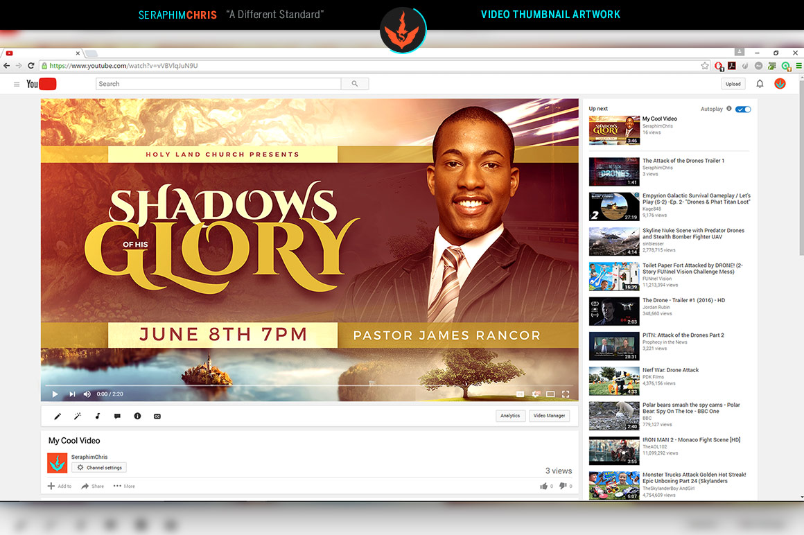 Shadows of His Glory Video Thumbnail Artwork example image 2