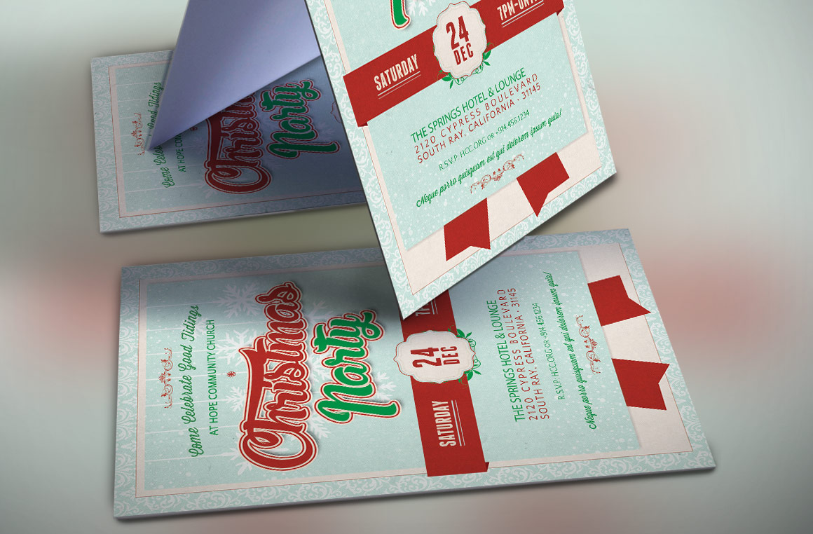 Church Christmas Party Flyer Template example image 4
